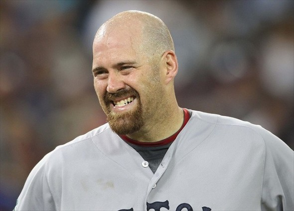 Jun 2, 2012; Toronto, ON, Canada; Boston Red Sox first baseman Kevin Youkilis (20) during their game against the Toronto Blue Jays at the Rogers Centre. The Red Sox beat the Blue Jays 7-4. Mandatory Credit: Tom Szczerbowski-USA TODAY Sports