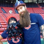 Jeannie and Todd bringing beard power to Fenway
