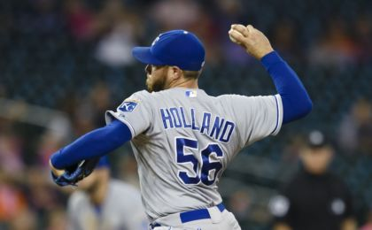 Sep 18, 2015; Detroit, MI, USA; Kansas City Royals relief pitcher Greg Holland. Mandatory Credit: Rick Osentoski-USA TODAY Sports