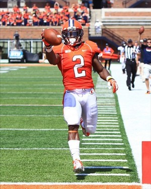 Aug 31, 2013; Champaign, IL, USA; Illinois Fighting Illini defensive back V