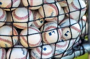 Feb 23, 2014; Dunedin, FL, USA; Baseballs rest next to the Toronto Blue Jays field during spring training at the Bobby Mattick Training Center. Mandatory Credit: Jonathan Dyer-USA TODAY Sports
