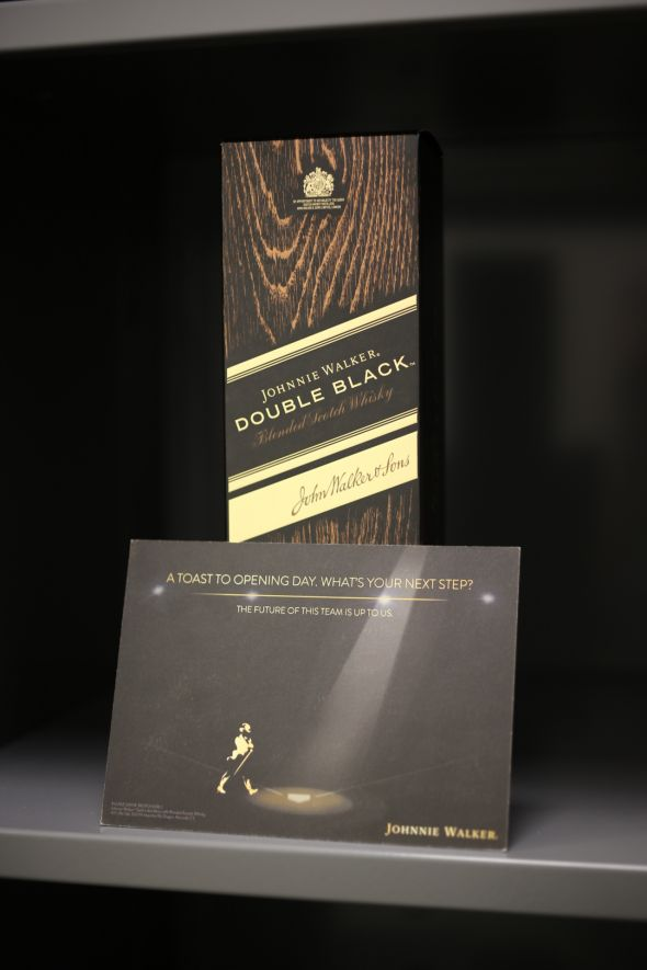Fowler Gifts Teammates with Johnnie Walker Double Black