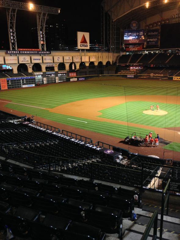 Minute Maid Park after dark