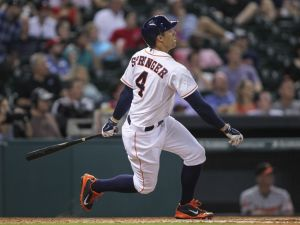 A seven game home run streak of his own came to an end on Friday, but George Springer continues to impress. Photo Mandatory Credit: Troy Taormina-USA TODAY Sports