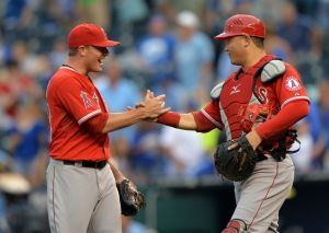 Joe Smith and Hank Conger (Peter G. Aiken-USA TODAY Sports)