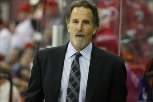 NHL: New York Rangers at Carolina HurricanesApril 25, 2013; Raleigh, NC, USA; New York Rangers coach John Tortorella look on from the bench against the Carolina Hurricanes at the PNC center. The Rangers defeated the Hurricanes 4-3 in overtime. Mandatory Credit: James Guillory-USA TODAY Sports