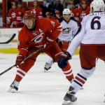 Alex Semin vs CBJ; Mandatory Credit: Gerry Broome