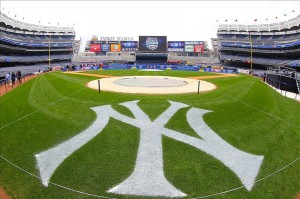 Aug 8, 2013; New York, NY, USA; General view inside Yankee Stadium. Two outdoor regular-season NHL games will be played at Yankee Stadium during the 2013-14 season as part of the 2014 Stadium Series. Mandatory Credit: Ed Mulholland-USA TODAY Sports