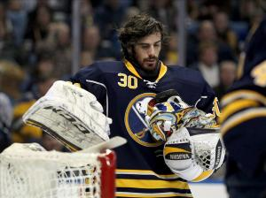 Ryan Miller. Mandatory Credit: Timothy T. Ludwig-USA TODAY Sports