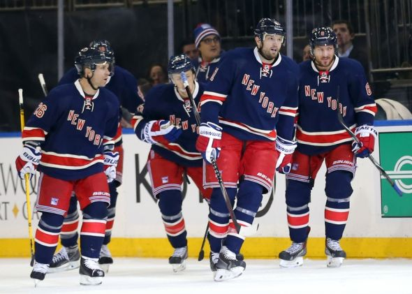 Feb 4, 2015; New York, NY, USA; New York Rangers left wing <a rel=