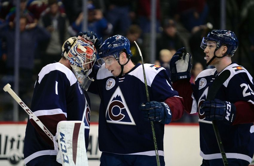Nov 28, 2015; Denver, CO, USA; Colorado Avalanche goalie <a rel=