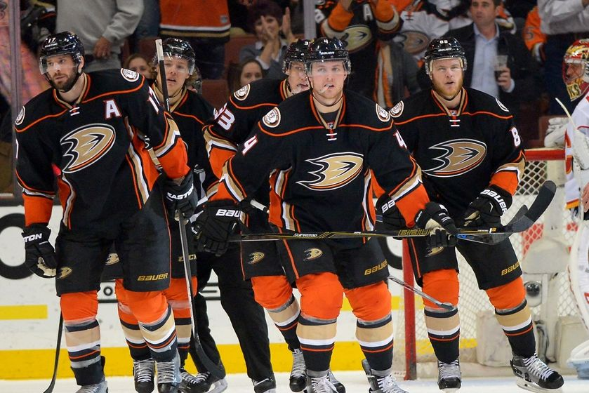 2954b8cd0 Mar 30, 2016; Anaheim, CA, USA; Anaheim Ducks center Ryan Kesler (17),  defenseman Hampus Lindholm (47), left wing Jakob Silfverberg (33),  defenseman Cam ...