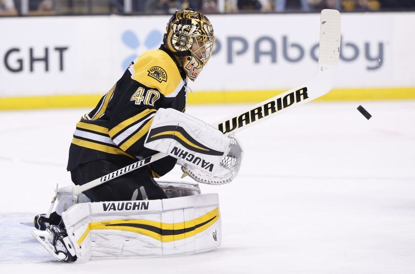 NHL Power Rankings: Boston Bruins goalie Tuukka Rask (40) makes a save during the first period against the St. Louis Blues at TD Garden. Mandatory Credit: Greg M. Cooper-USA TODAY Sports