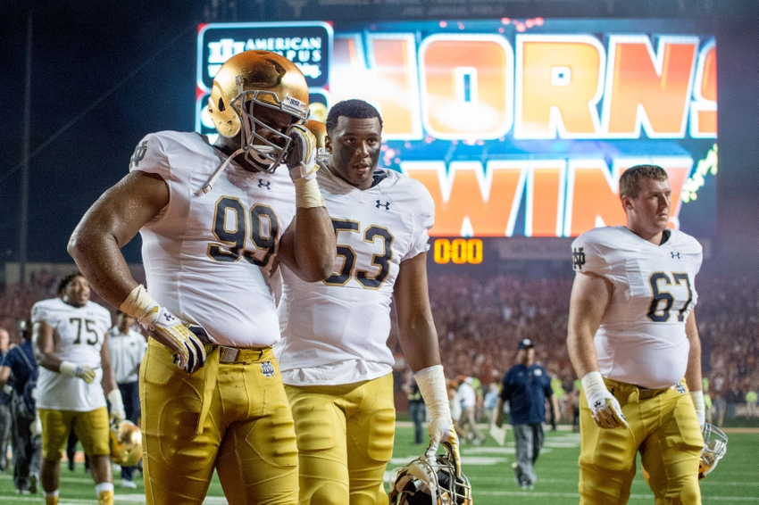current notre dame score ncaaa football