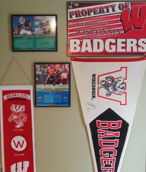 Wisconsin Badgers fan art, Jon Rzepecki