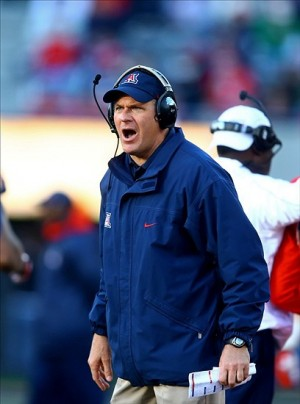 Arizona head coach Rich Rodriguez--- Mark J. Rebilas-USA TODAY Sports