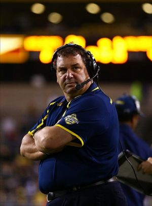 Dec 28, 2013; Tempe, AZ, USA; Michigan Wolverines head coach Brady Hoke in the second half against the Kansas State Wildcats during the Buffalo Wild Wings Bowl at Sun Devil Stadium. Kansas State defeated Michigan 31-14. Mandatory Credit: Mark J. Rebilas-USA TODAY Sports