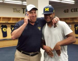 Darrin Kirkland Jr. and Coach Mattison