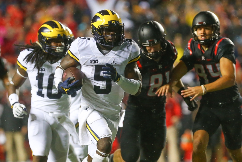 Peppers runs No. 4 Michigan past Rutgers in 78-0 rout