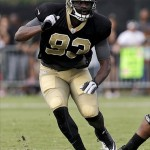 Aug 3, 2013; Metairie, LA, USA; New Orleans Saints linebacker Junior Galette (93) during a scrimmage at the team training facility. Mandatory Credit: Derick E. Hingle-USA TODAY Sports