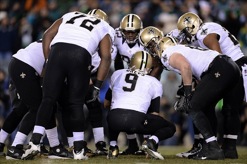 Drew Brees Saints Huddle Drew Brees 9 Huddles The