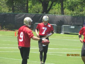 Brees giving some lessons