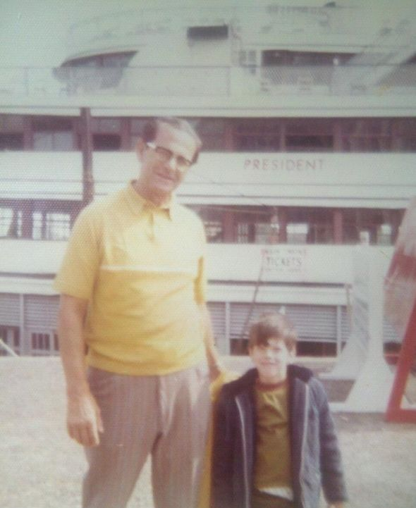 """Who Dat Dish Staff Writer Barry Hirstius on his 6th birthday with his """"Paw Paw""""; October 28th, 1973"""