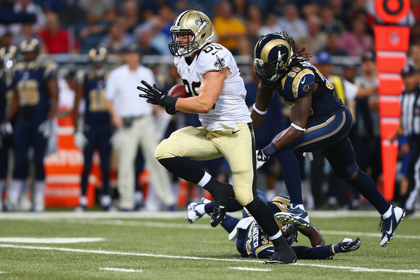 Saints TE Josh Hill (photo courtesy of zimbio.com)