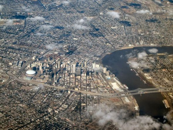 Overhead aerial photo of the city of New Orleans (Photo courtesy of the Associated Press)