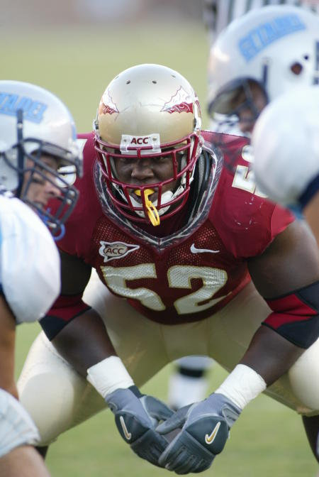 Brodrick Bunley at Florida State in 2005 (Photo courtesy of nolefan.org)