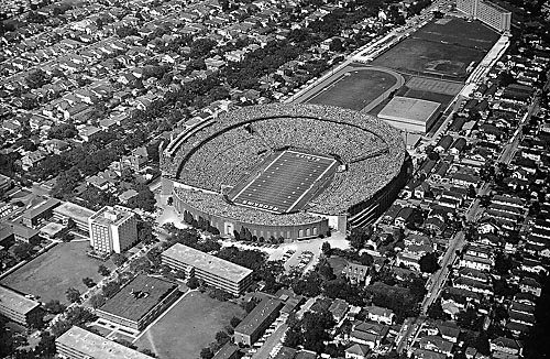 Tulane Stadium in uptown New Orleans, 1973 (Photo courtesy of the Associated Press)