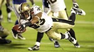 Pierre Thomas, Super Bowl XLIV (Photo courtesy of the Associated Press)