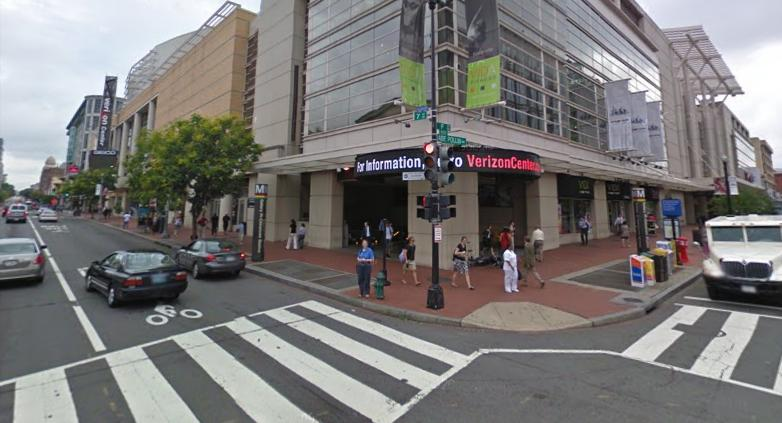 The Corner of 7th & G intersection in NW Washington, DC; home of the Verizon Center