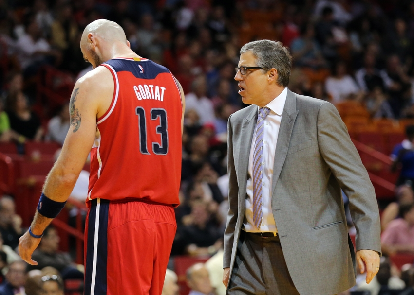 Randy-wittman-marcin-gortat-nba-washington-wizards-miami-heat