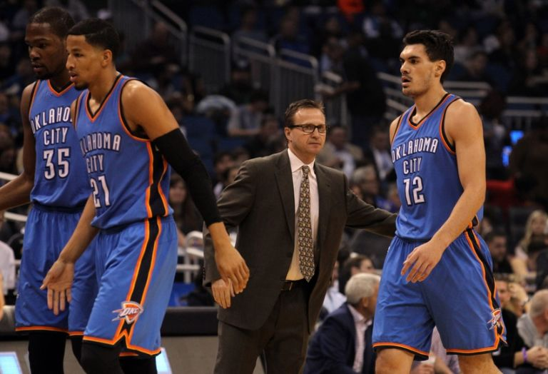 Scott-brooks-steven-adams-nba-oklahoma-city-thunder-orlando-magic-768x524