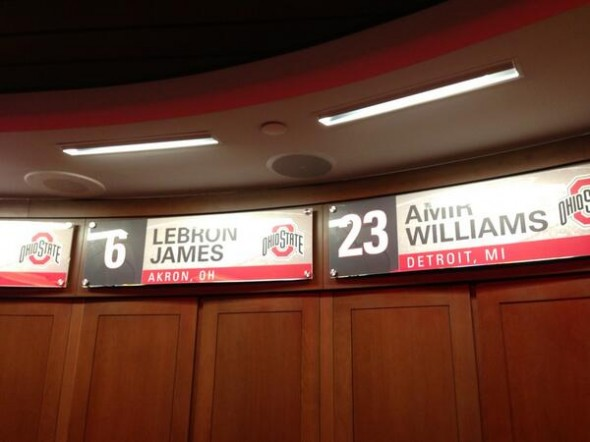 LeBron James Locker OSU