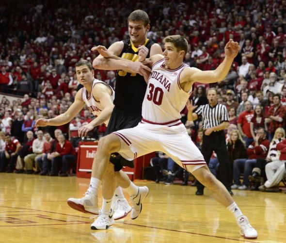 Collin-hartman-adam-woodbury-ncaa-basketball-iowa-indiana-590x900