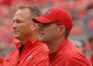 Mark Richt and Mike Bobo, photo by Sonny Kennedy, http://www.sonnykennedyphotography.com/