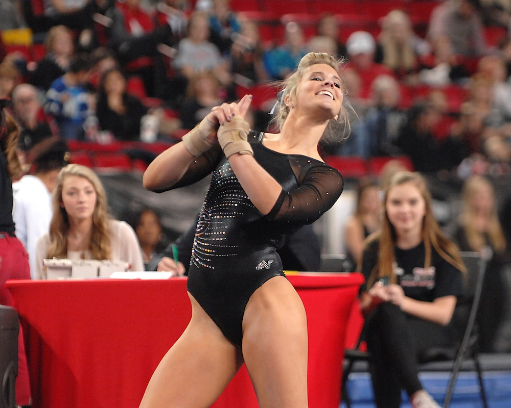 Brittany Rogers' floor routine.