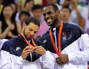 Deron Williams and Lebron James won gold for Team USA in the 2008 olympics.
