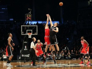 Joakim Noah and Brook Lopez