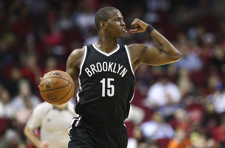 Dec 12, 2016; Houston, TX, USA; Brooklyn Nets guard Isaiah Whitehead (15) brings the ball up the court during the third quarter against the Houston Rockets at Toyota Center. Mandatory Credit: Troy Taormina-USA TODAY Sports