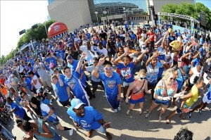 Jun 12, 2012; Oklahoma City, OK, USA; Oklahoma City Thunder fans dance before game one against the Miami Heat in the 2012 NBA Finals at Chesapeake Energy Arena. Mandatory Credit: Jerome Miron-US PRESSWIRE