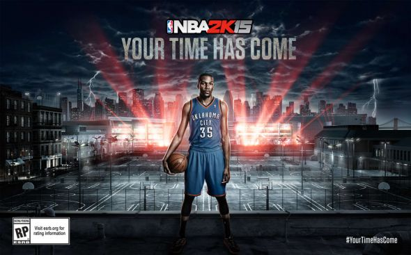 The proposed cover theme for NBA 2K15, courtesy of 2K Games.