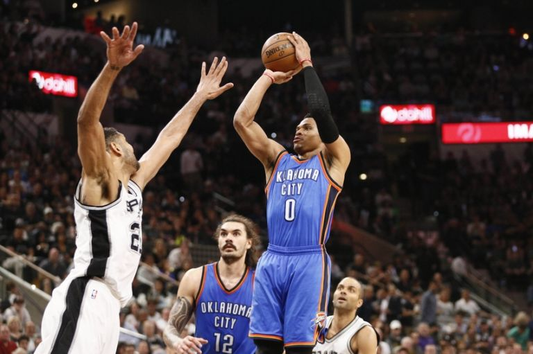 Tim-duncan-russell-westbrook-nba-playoffs-oklahoma-city-thunder-san-antonio-spurs-768x511