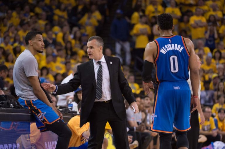 Russell-westbrook-andre-roberson-billy-donovan-nba-playoffs-oklahoma-city-thunder-golden-state-warriors-768x511