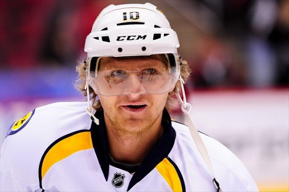 Alternate team captain Martin Erat of the Nashville Predators