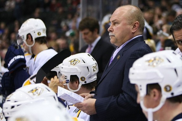 Trotz kept last night's shot totals on the scoreboard to motivate the Nashville Predators line