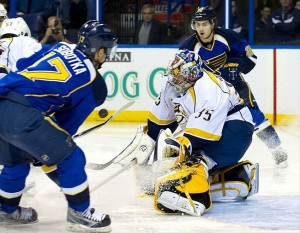The Nashville Predators schedule sees St. Louis three times in the early season