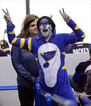 Fans of the Central Division's St. Louis Blues can be a little strange
